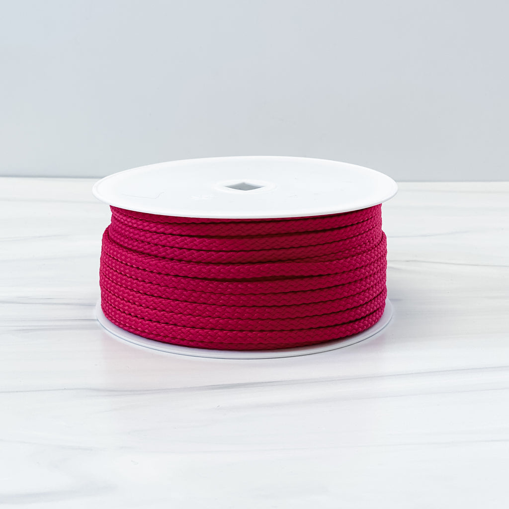 Raspberry Polyester Drawstring Cording - By the Yard