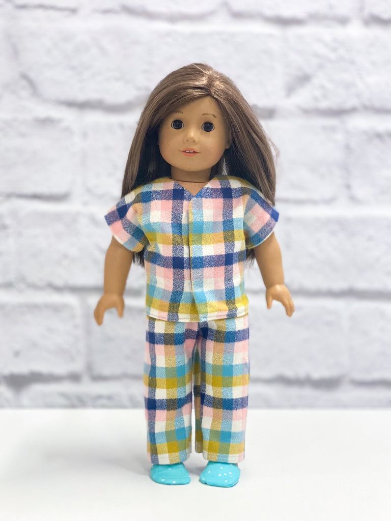 "Crosscut Sewing 18"" Doll Pajamas - Downloadable PDF Pattern & Video Tutorial"