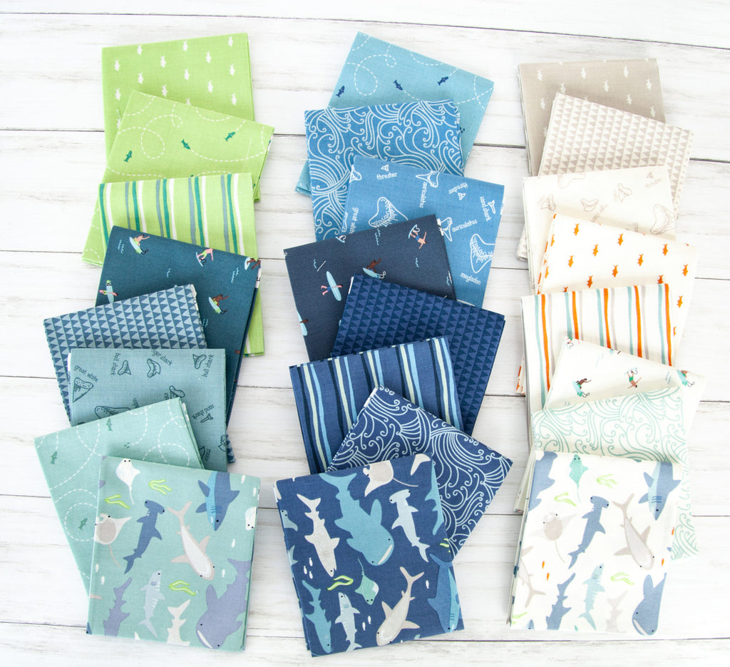 Smile Denim from Riptide by Citrus & Mint Designs for Riley Blake Fabric