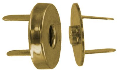 "3/4"" Gold, Magnetic Snap, Steel"