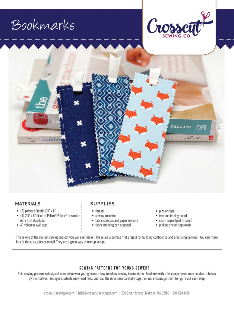 Bookmarks - Downloadable PDF Pattern