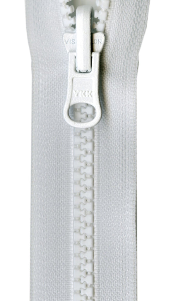 Vislon Reversible Separating Zipper 30in White