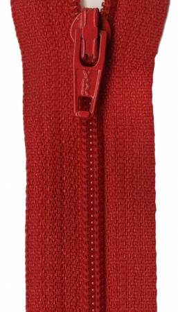 All-Purpose Polyester Coil Zipper 12 in - Red