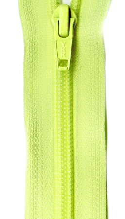 Ziplon Coil Zipper 14in - Fluorescent Green