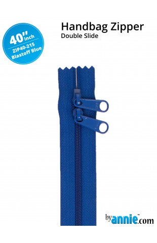 "ByAnnie 40"" Double Slide Handbag Zipper - Blastoff Blue"