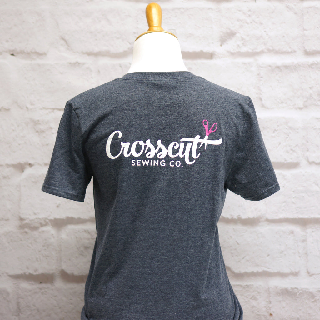 Crosscut T-Shirt - Measure Twice Cut Once - Dark Heather Gray