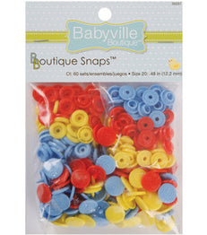 Babyville Boutique 35037 Snaps - Blue, Yellow and Red
