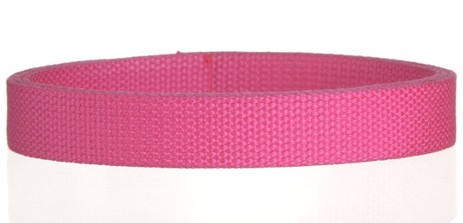 "Synthetic Cotton Canvas Webbing - 1"" Wide - Hot Pink"