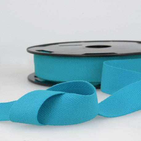 Cotton Twill Tape 35mm - By the Yard - Turquoise