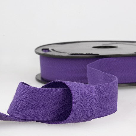 Cotton Twill Tape 35mm - By the Yard - Purple