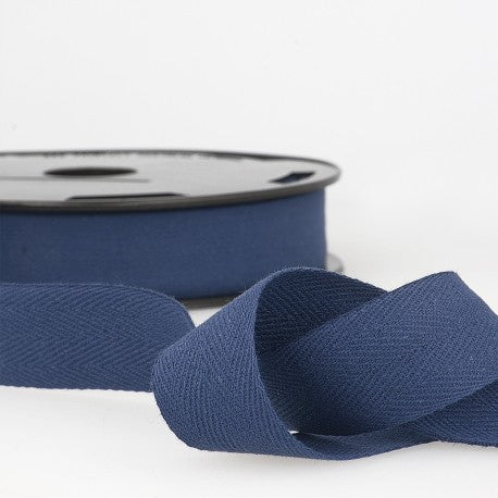 Cotton Twill Tape 35mm - By the Yard - Navy Blue