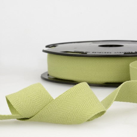 Cotton Twill Tape 35mm - By the Yard - Lime