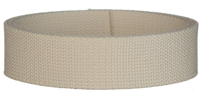 "Synthetic Cotton Canvas Webbing - 1.5"" Wide - Natural"