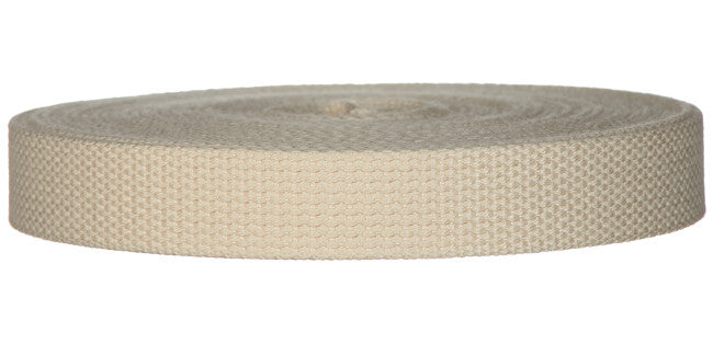 "Synthetic Cotton Canvas Webbing - 1"" Wide - Natural"
