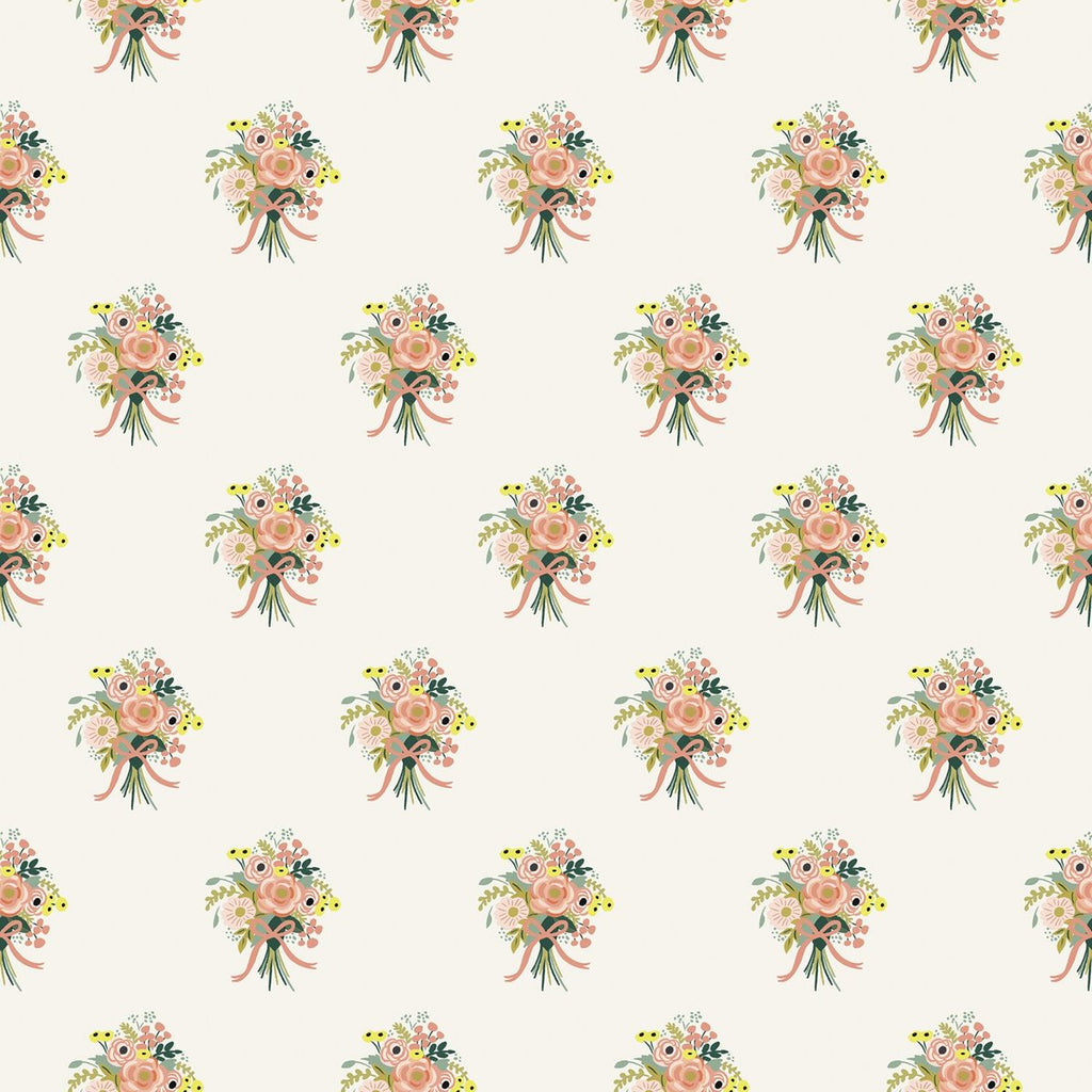 Bouquets Cream from English Garden by Anna Bond of Rifle Paper Co. for Cotton + Steel