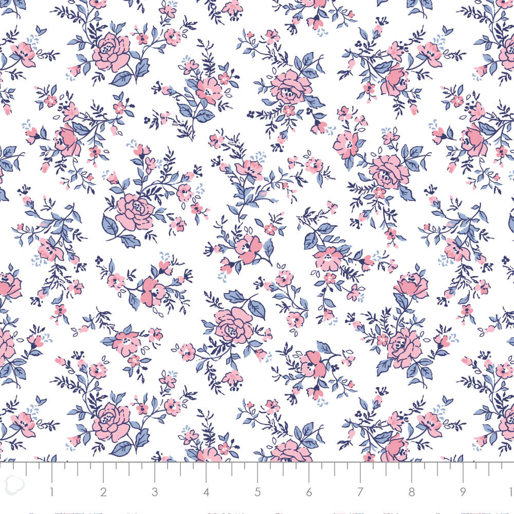White Floral from Summer Collection by Laura Ashley for Camelot Fabrics
