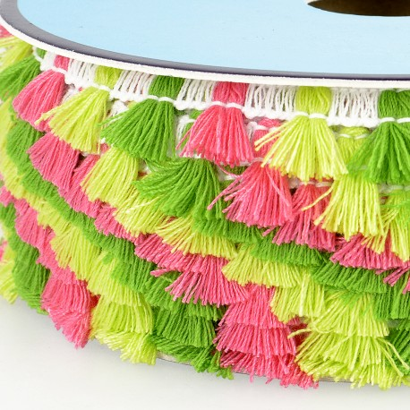 Multicolor Tassel Fringe, 15mm