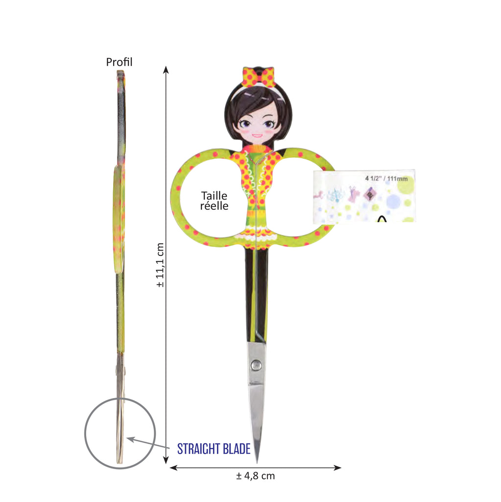Emboidery Scissors - Girl Snips Yellow