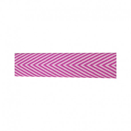 Chevron Ribbon - 18mm - Pink