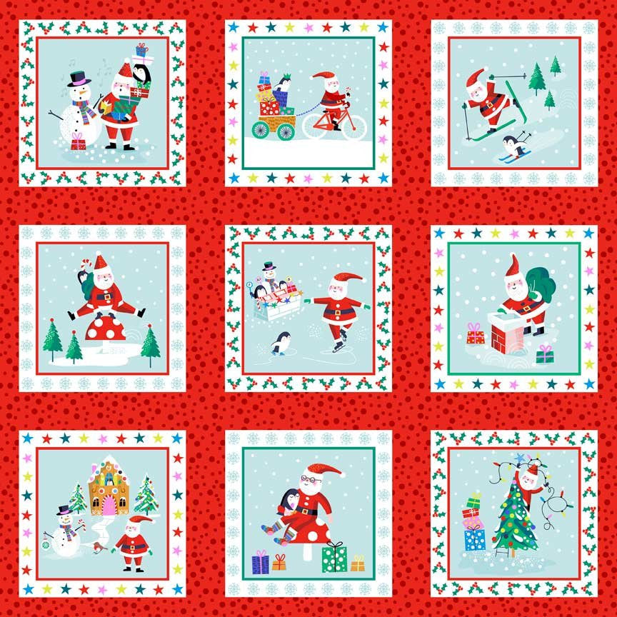 Christmas Labels from Jolly Santa by Makower UK