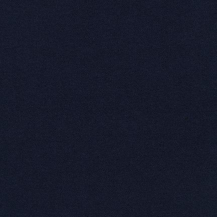 "Bi Stretch Crepe in Navy from Robert Kaufman - 1 YARD 2"" REMNANT"