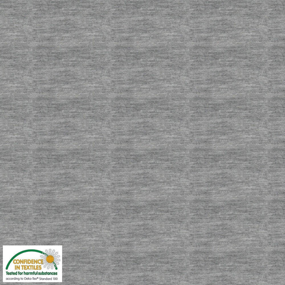 Medium Heather Gray AVALANA Jersey Melange by STOF Fabrics
