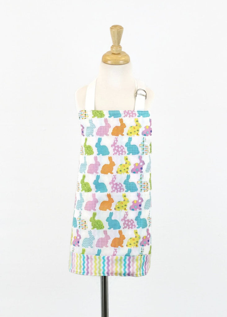 Spring Bunnies - Kids Apron - Girls Apron - Reversible Apron