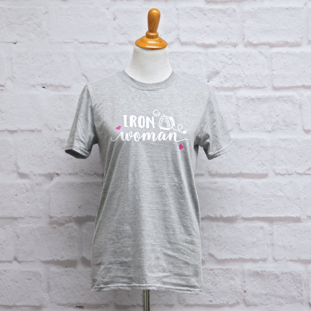 Crosscut T-Shirt - Iron Woman - Heather Gray