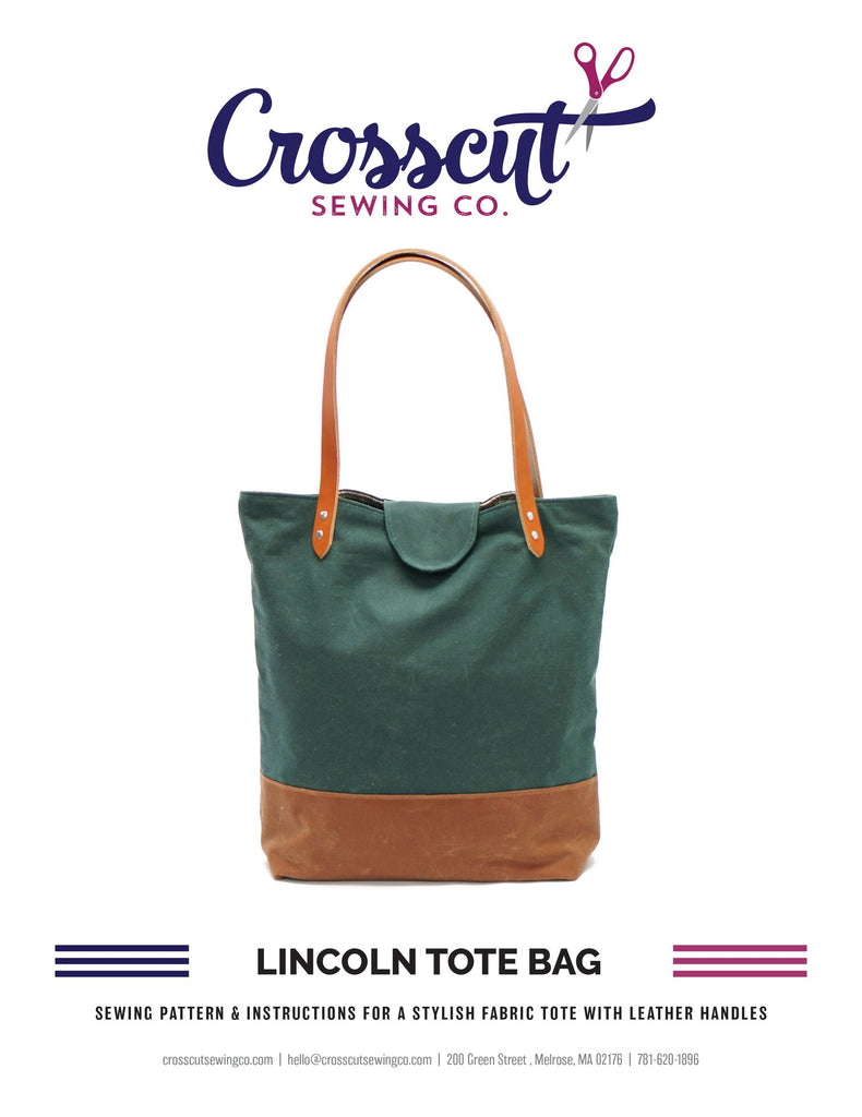 Lincoln Tote Bag Complete Kit - Burgundy Waxed Canvas