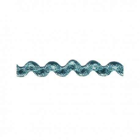 Metallic Aqua Rick Rack - Rick Rack Trim - SOLD BY THE YARD