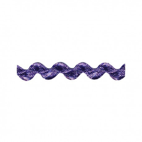 Metallic Purple Rick Rack - Rick Rack Trim - SOLD BY THE YARD