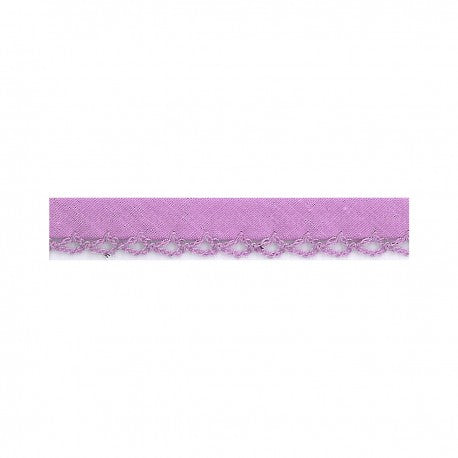 Prefolded Bias Picot Edge - Light Purple