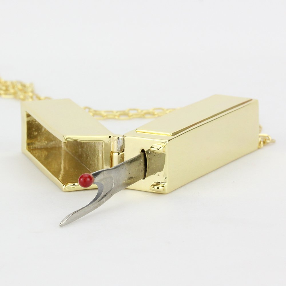 Seam Ripper Necklace Gold