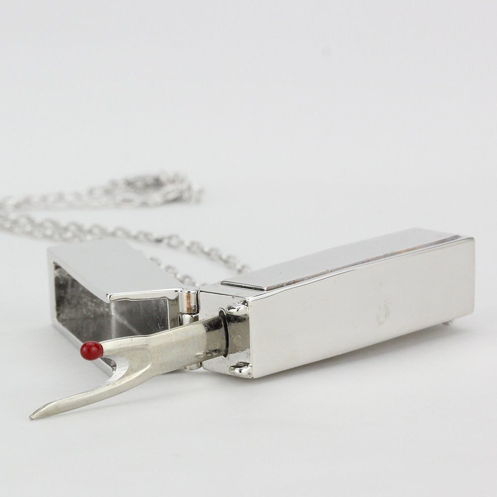 Seam Ripper Necklace Silver