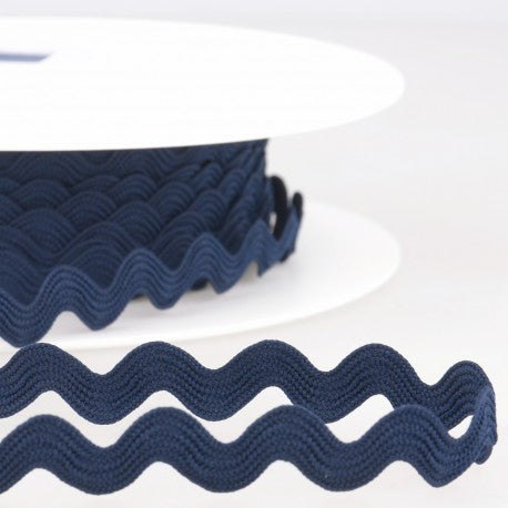 Navy Rick Rack - Rick Rack Trim - SOLD BY THE YARD