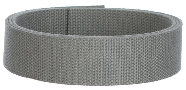 "Synthetic Cotton Canvas Webbing - 1.5"" Wide - Gray"