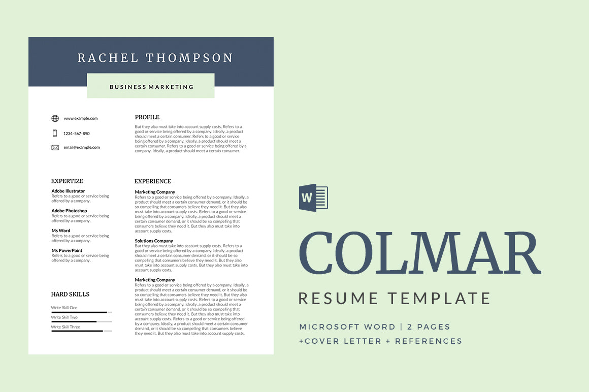 Colmar Resume Template
