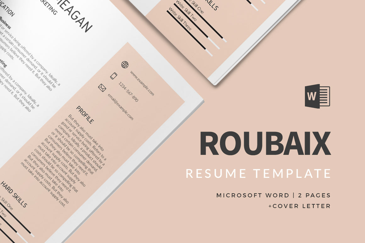 Roubaix Resume Template