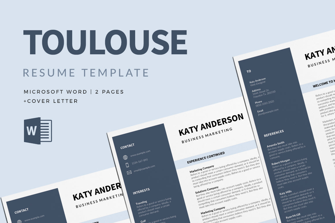 Toulouse Resume Template