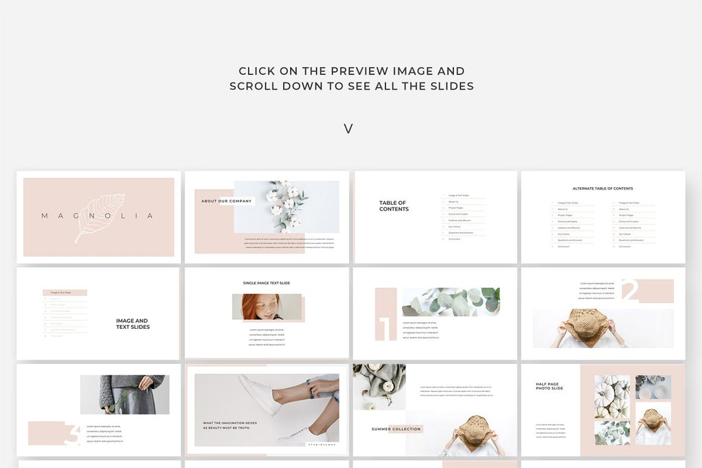 Magnolia Vertical Keynote Template
