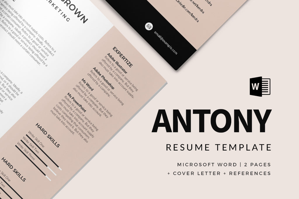 Antony Resume Template
