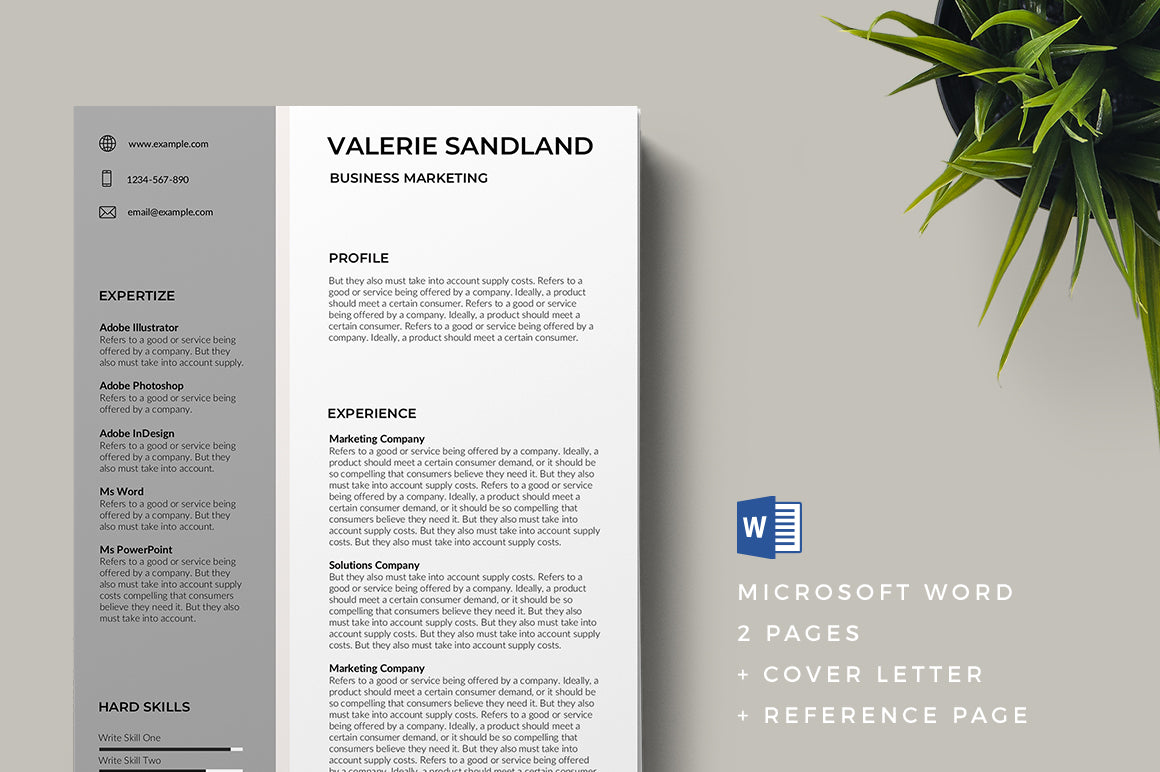 Cholet Resume Template