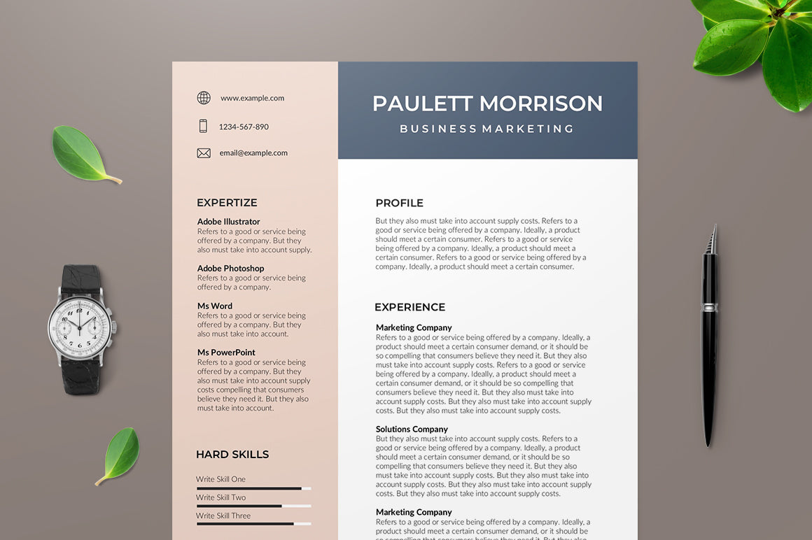 Quimper Resume Template