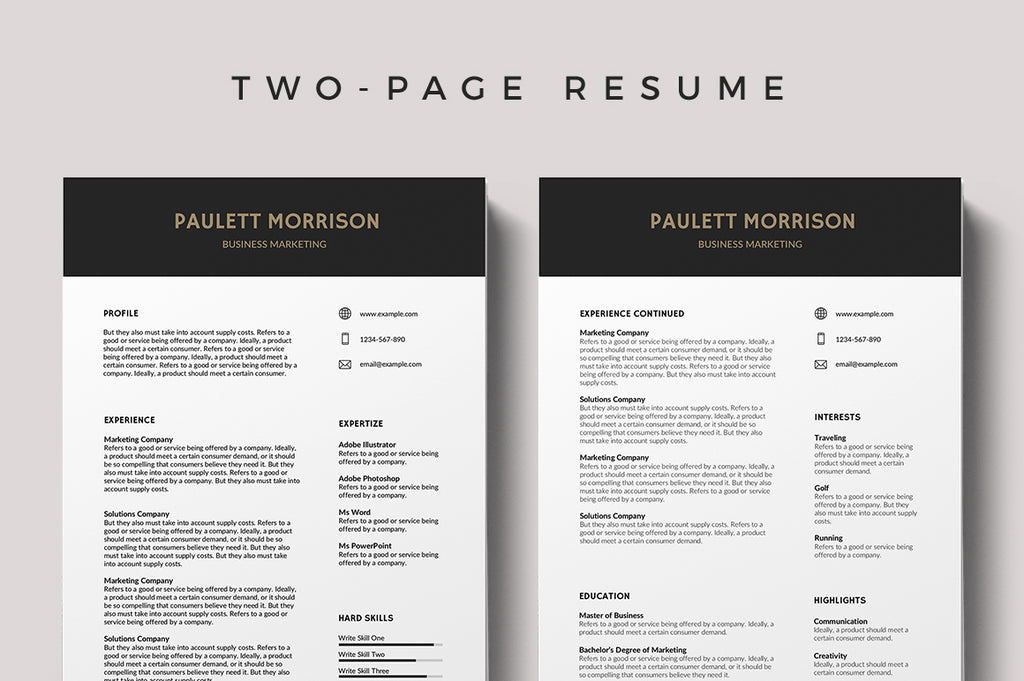 Colombes Resume Template