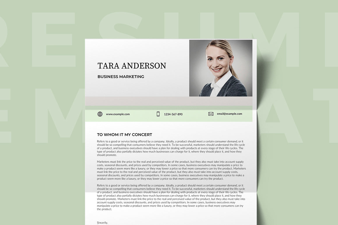 Bondy Resume Template