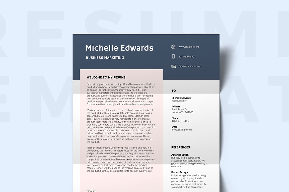 Reims Resume Template