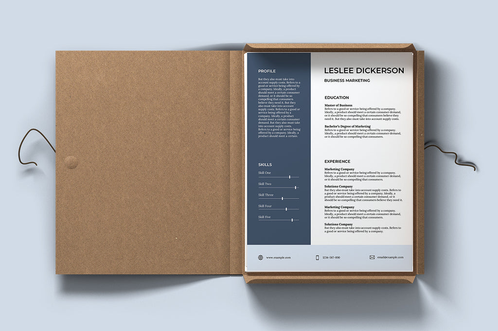Bordeaux Resume Template