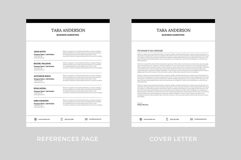 Annecy Resume Template