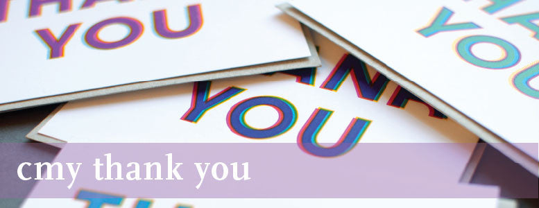 CMY Thank You Cards