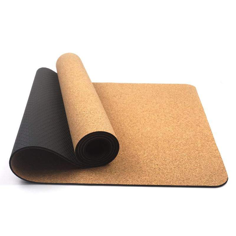 Cork Eco Yoga Mat Natural, Biodegradable and double sided - I Spy A Simple Life